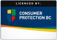 Licensed by Consumer Protection BC