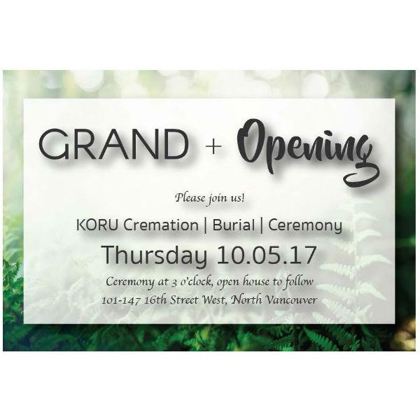 Grand Opening Front
