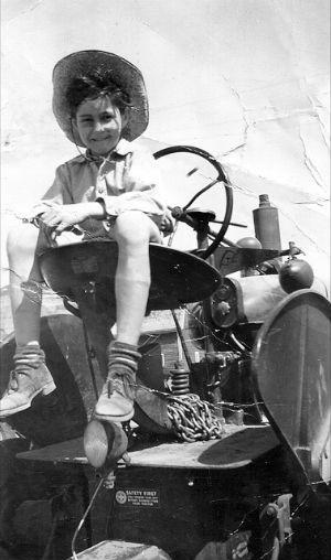 Keith as boy – tractor
