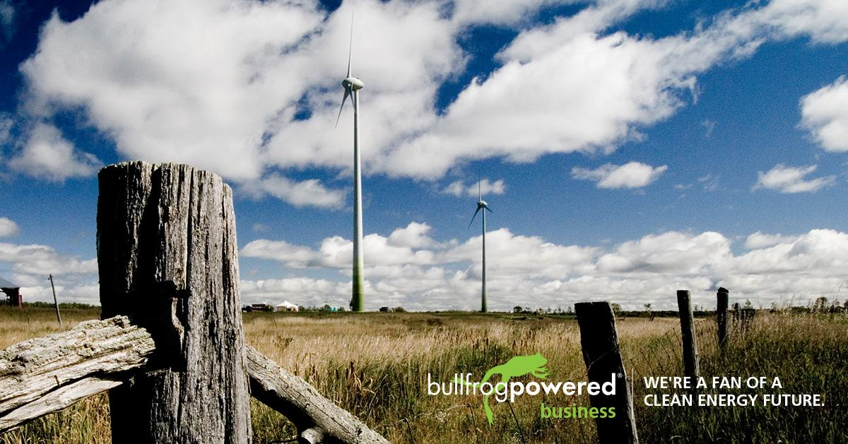KORU supports green electricity with Bullfrog Power®